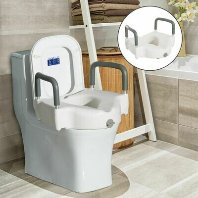 HOMCOM Toilettensitzerhöhung Sitzerhöhung mit Armlehnen