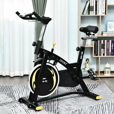 HOMCOM® Fahrradtrainer Heimtrainer Fitnessfahrrad Stufenloser Magnetwiderstand Stahl