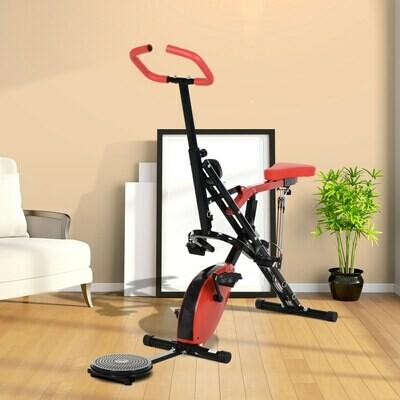 HOMCOM® Heimtrainer Fahrradtrainer Fitness-Scheibe Reiten LCD-Display Magnetwiderstand
