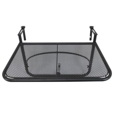 Outsunny® Balkonhängetisch Hängetisch höhenverstellbar viereckig Terrasse Metall Schwarz L60 x B56,5 x H45 cm