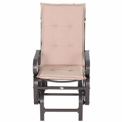 Outsunny® Stuhlauflage Auflage Gartenstuhl Sitzkissen 2er Set Hochlehner Polyester Beige