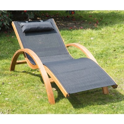 Outsunny® Relax-Sonnenliege für den Garten Schwarz