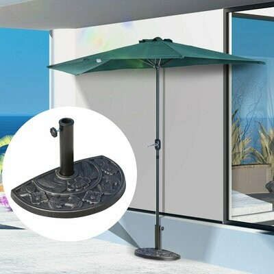 Outsunny® Sonnenschirmständer halbrund Schirmständer Schirmfuss 47x31x33cm