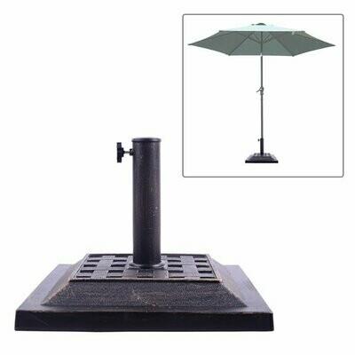 Outsunny® Schirmständer Halterung 9kg 38/48mm Harz Bronze