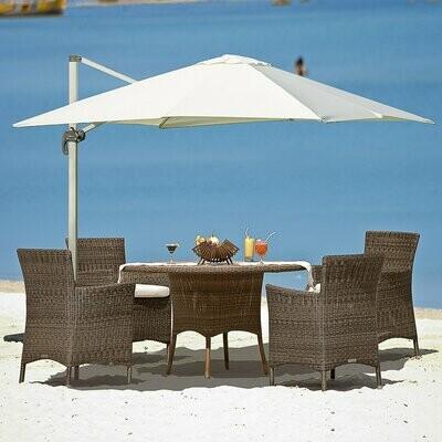 Outsunny® Sonnenschirm Roma Ampelschirm Gartenschirm 0-60° verstellbar 360° drehbar Alu