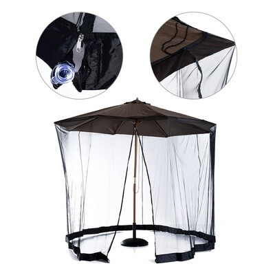 Outsunny® Moskitonetz für Sonnenschirm Fliegennetz Mückennetz Φ3m Schwarz