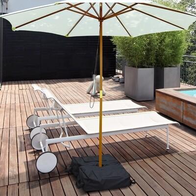 Outsunny® Sonnenschirmständer Schirmständer Sandsack 2 x Beutel befüllbar 100 kg mit 1 Schaufel 50 x 50 x 18 cm