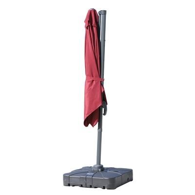 Outsunny® 2tlg. Sonnenschirmständer Schirmhalter Schirmfuß befüllbar mit Sand Wasser bis zu 125 kg Schwarz 84 x 84 x 19 cm