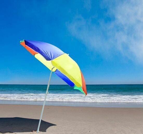 Outsunny® Sonnenschirm Balkon Wasserdicht Strand Bunt
