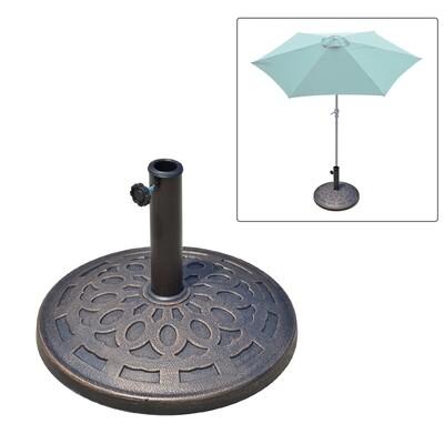 Outsunny® Schirmständer Sonnenschirmfuß rund 38/48mm Bronze