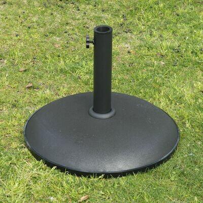 Outsunny® Sonnenschirmständer Sonnenschirmfuß 25kg Stahl Schwarz