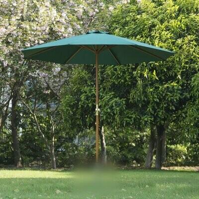 Outsunny® Holz Sonnenschirm 2,7m Grün