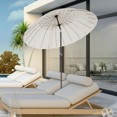 Outsunny® Sonnenschirm Gartenschirm Alu Creme Φ2,5 x H2,45m