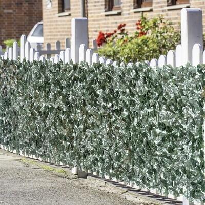 Outsunny® Sichtschutz Künstliche Hecke Wanddekoration 1x3m Dunkelgrün