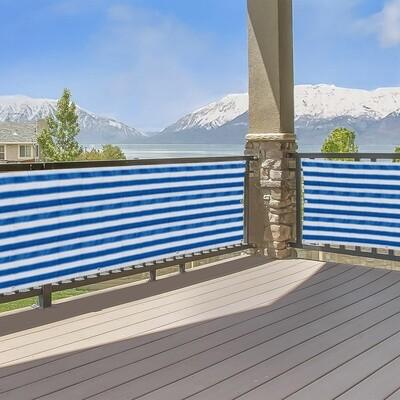 Outsunny® Sichtschutz Sichtschutzstreifen 2er-Set Balkon UV-Schutz Blau 5 x 0,9 m
