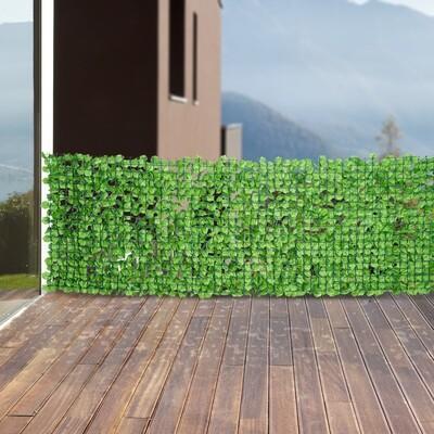 Outsunny® Sichtschutz Künstliche Hecke Wanddekoration 1x3m Hellgrün