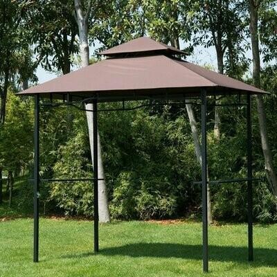 Outsunny® Grillpavillon Doppeldach 245x148x255cm