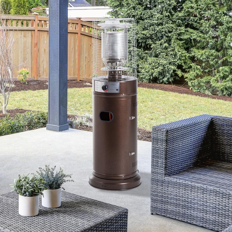 Outsunny® Heizstrahler | Terrassenheizer | 5-12 kw | Φ46 x H135cm | Bronze