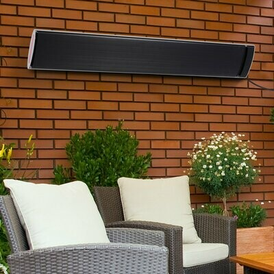 Outsunny® Outdoor-Heizung 2400 W Heizstrahler Heizgerät Wandmontage Garten Terrasse Alu
