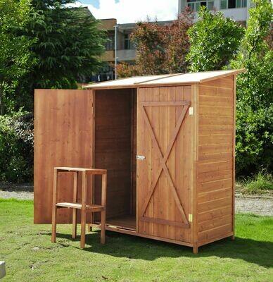 Outsunny® Gerätehaus Holz Gartenschuppen Geräteschuppen Doppeltür