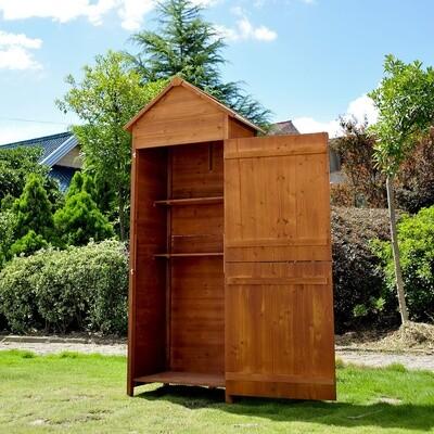Outsunny® Holz Gerätehaus Geräteschuppen Gartenschrank Gartenschuppen