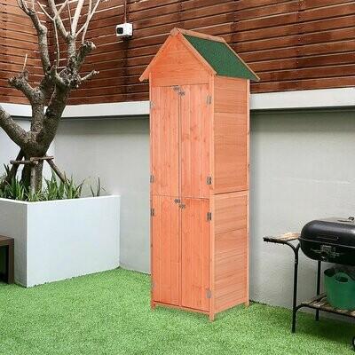 Outsunny® Gartenhaus mit Fachböden Geräteschuppen Gerätehaus Asphaltdach Massivholz