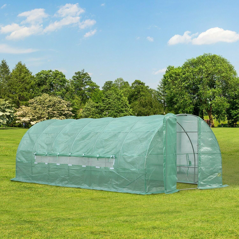 Outsunny® Treibhaus Foliengewächshaus 18m² mit Fenster