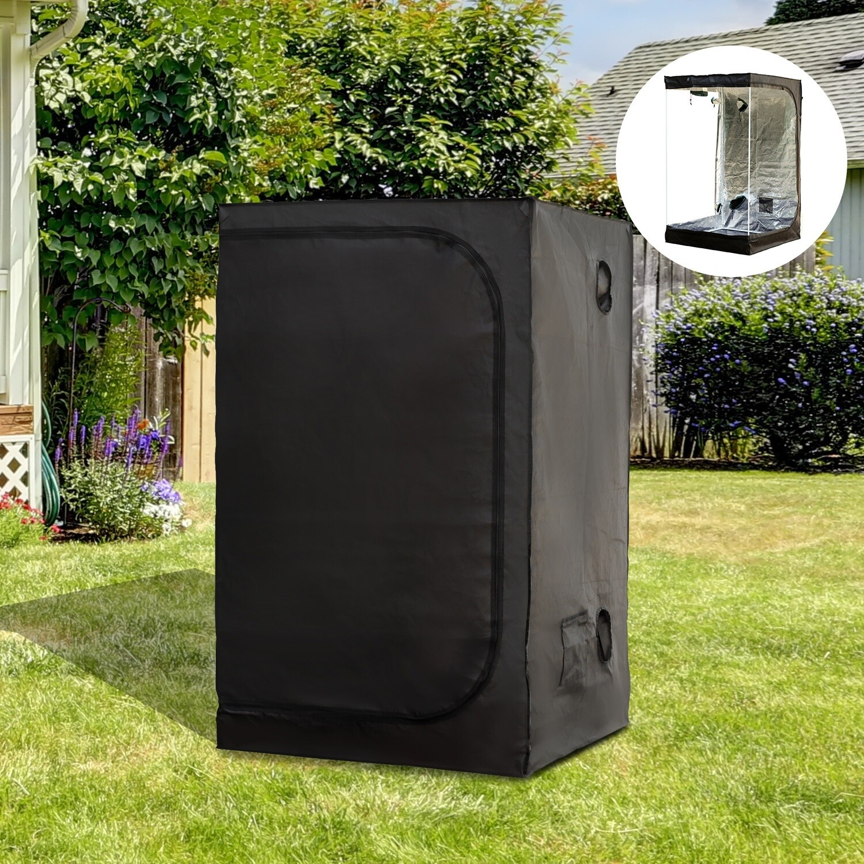 Outsunny® Growbox 1,2x1,2x2m Growzelt Growschrank Zuchtschrank