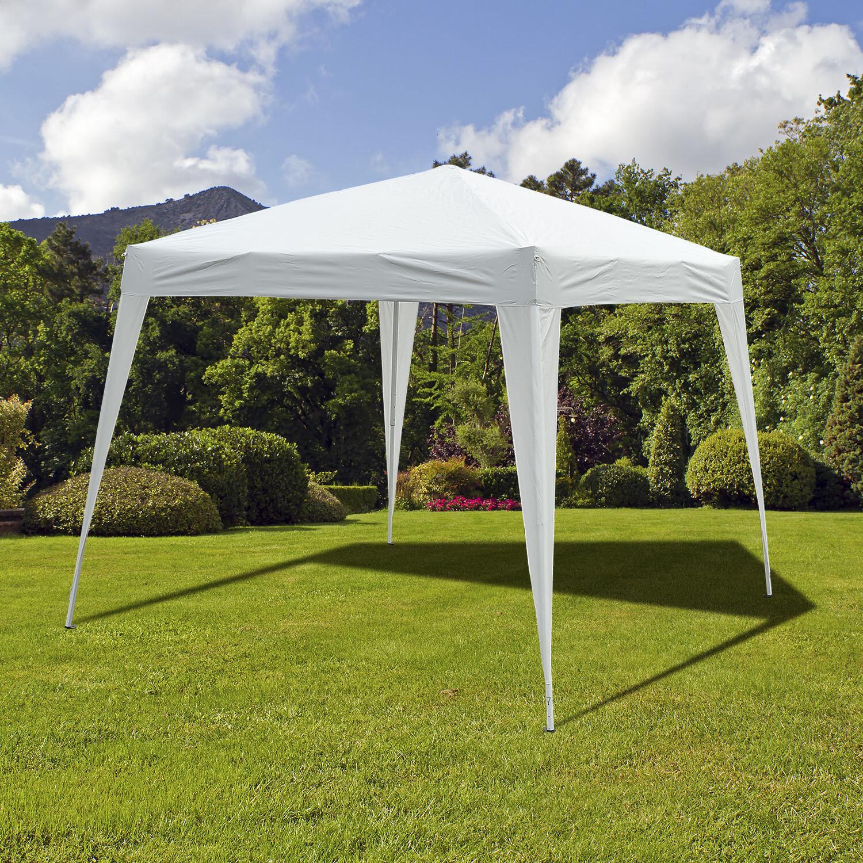 Outsunny® Faltpavillon 3x3m Pavillon Faltzelt Partyzelt Gartenzelt Popup Weiss