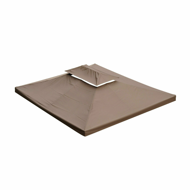 Outsunny® Ersatzdach für Metall-Gartenpavillon 3x4m kaffeebraun