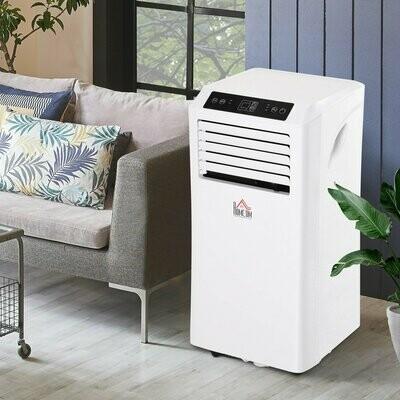 HOMCOM® Mobile Klimaanlage 3-in-1 Klimagerät Entfeuchtung 24h Timer Fernbedienung ABS