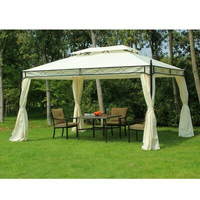 Outsunny® Luxus Pavillon Gartenzelt Pagode 3x4 m