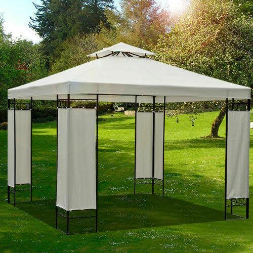 Outlet: Outsunny® Ersatzdach Dach für Metall-Gartenpavillon Pavillon Partyzelt Gartenzelt 3x3/3x4m