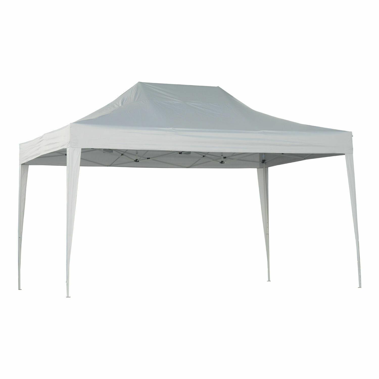 Outsunny® Faltpavillon 3x4.5m weiss Metall