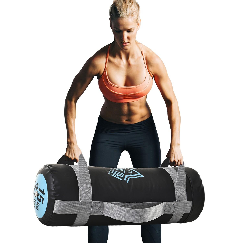 HOMCOM® Fitness-Sandsack 15 kg Power Bag Gewichtstasche PVC Ausdauertraining Schwarz