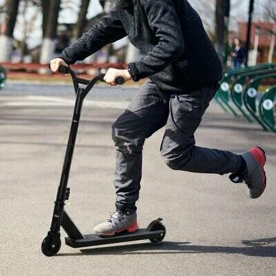 HOMCOM® Pro Stunt Scooter Tretroller Freestyle Tricks PU-Rollen ab 14 Jahren Alu Schwarz