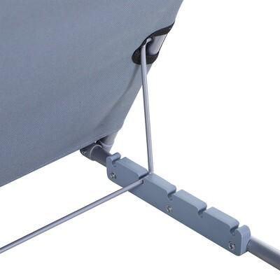 Outsunny® Strandmatte 2er Set Sonnenmatte Faltbar 5-stufige Höhe mit Tragetasche Stahl