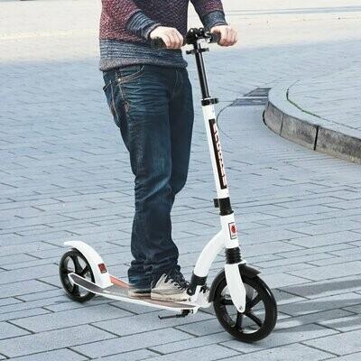 HOMCOM® Kinderscooter Kickscooter Tretroller Stossdämpfung Höheverstellbar Alu Weiss