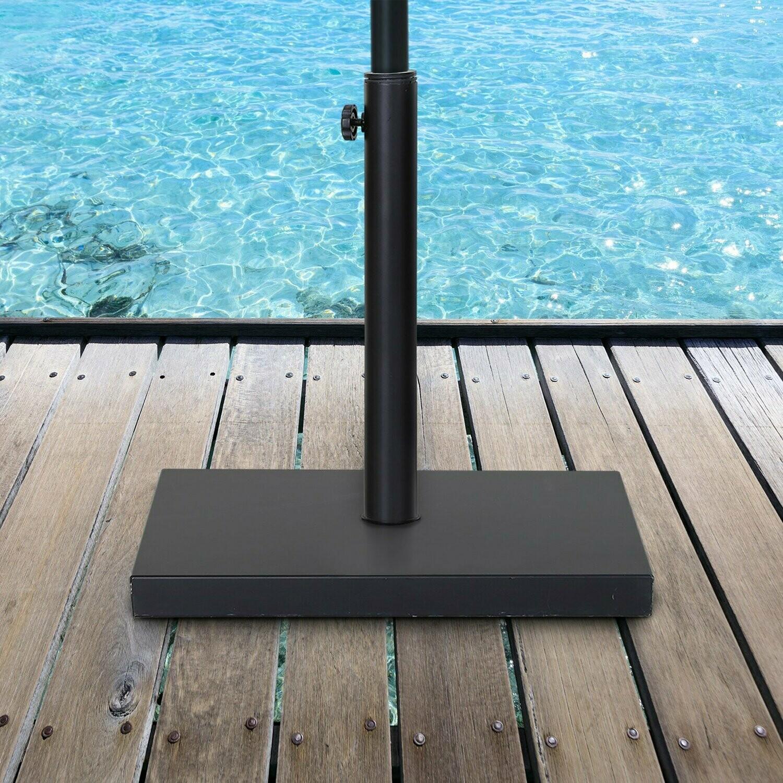 Outsunny® Sonnenschirmständer Schirmhalter Regenschirm Base für Ø30mm, Ø35mm, Ø38mm Metall