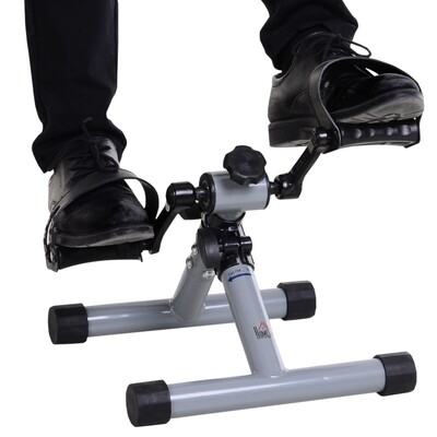 HOMCOM® Mini Heimtrainer Fahrradpedaltrainer Faltbar Stufenloser Widerstand Stahl