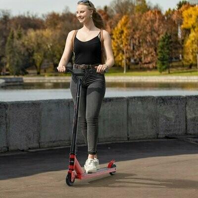 HOMCOM® Pro Stunt Scooter Tretroller Freestyle Tricks PU-Rollen ab 14 Jahren Alu Rot