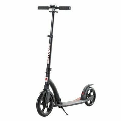 HOMCOM® Kinderscooter Kickscooter Tretroller Stossdämpfung Höheverstellbar Alu Schwarz