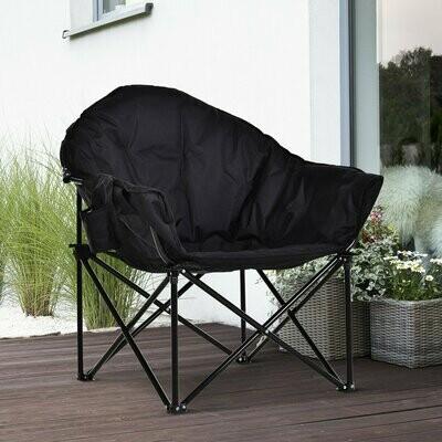 Outsunny® Campingstuhl Klappstuhl mit Becherhalter Tragetasche Outdoor Oxford Schwarz