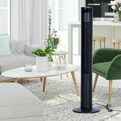 HOMCOM® Turmventilator Säulenventilator 45 W Fernbedienung Timer-Funktion Vier Modi ABS