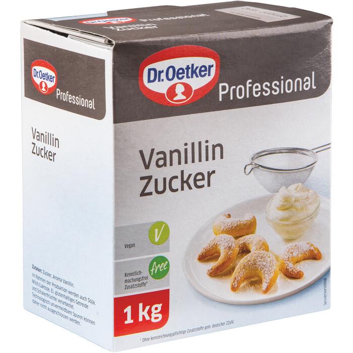 Grosspackung Dr. Oetker Vanillin Zucker Faltschachtel 10 x 1 kg = 10 kg
