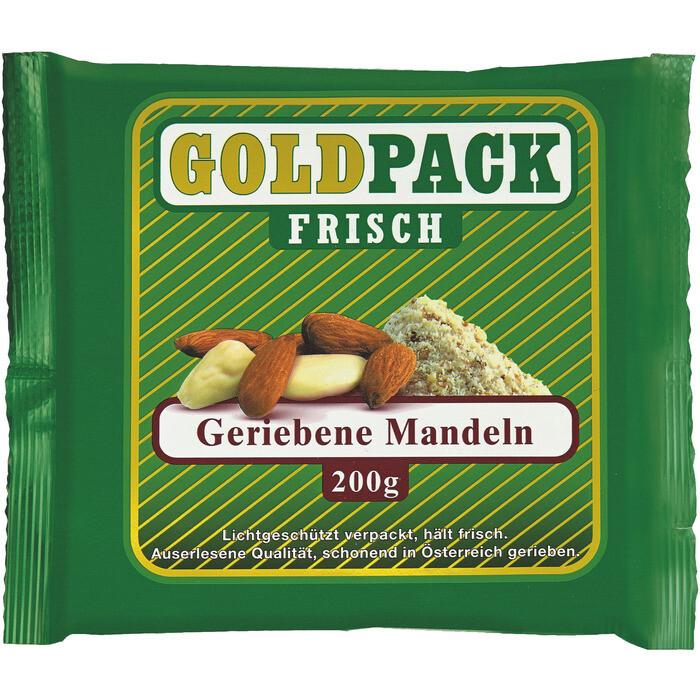 Grosspackung Goldpack Mandeln frisch gerieben 10 x 200 g = 2 kg