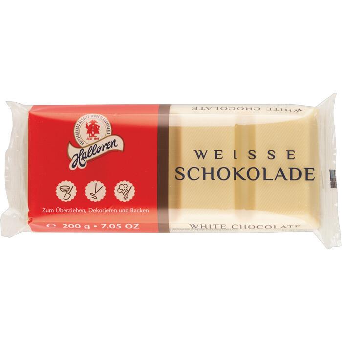 Grosspackung Halloren Couvertüre Schokolade Weiss 15 x 200 g = 3 kg