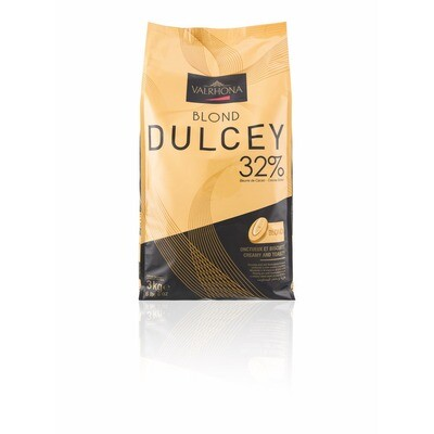 Grosspackung Valrhona Dulcey Couvertüre Vollmilch Callets 3 kg