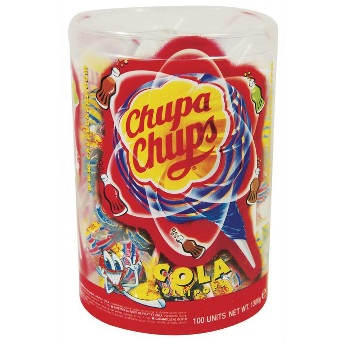 Grosspackung Chupa Chups Lollies Colalutscher 100 Stk. 1,3 kg