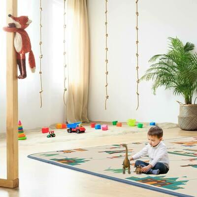 Baby VivoZirkus Spielmatte / Spielteppich für Kinder doppelseitig mit Alphabet 200 x 150 cm - Circus